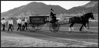 No horses were harmed in the making of this funeral procession